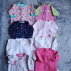 Sandy & Simon. Baby Girl 8pc Bright Layette bundle